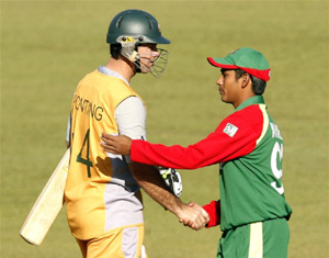 Ricky Ponting and Mohammad Ashraful