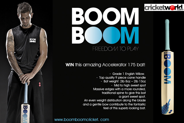 Win A Boom Boom Accelerator 175 Cricket Bat