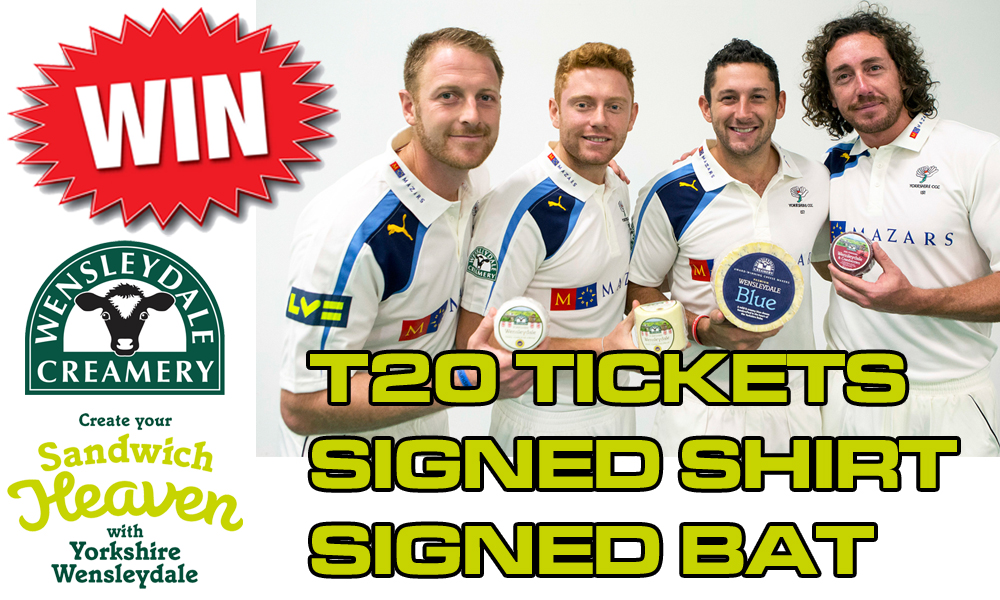 Win Yorkshire Tickets, Shirt, Bat