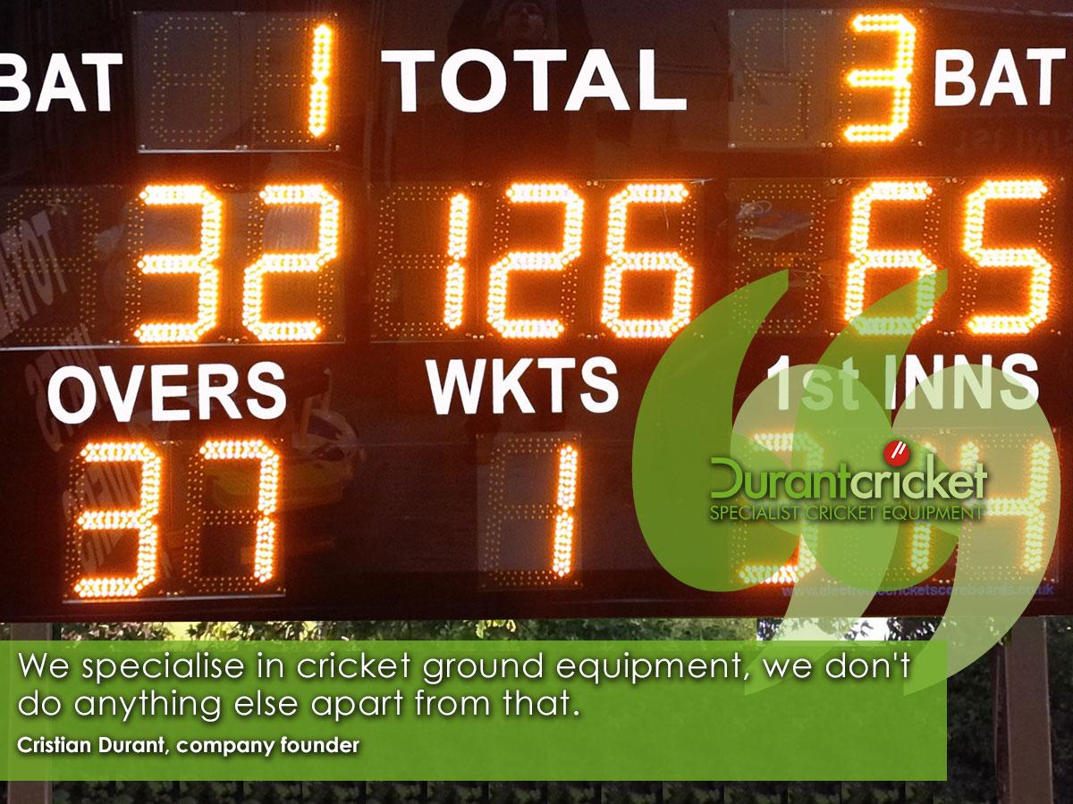 Durant Cricket specialise in cricket ground equipment