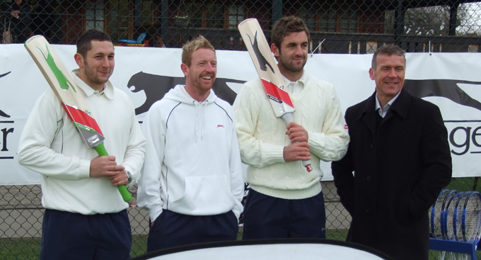 Tim Bresnan with England colleagues at Wimbledon