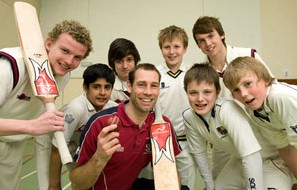 Solihull School's cricketers are getting tons of pre-season training with the help of their coach David Hemp