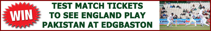 Win a pair of Test match tickets to see England-Pakistan