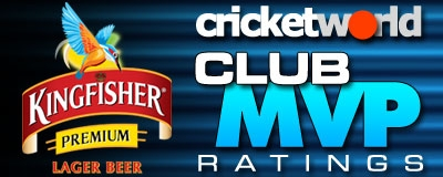 Cricket World Kingfisher Club MVP Ratings