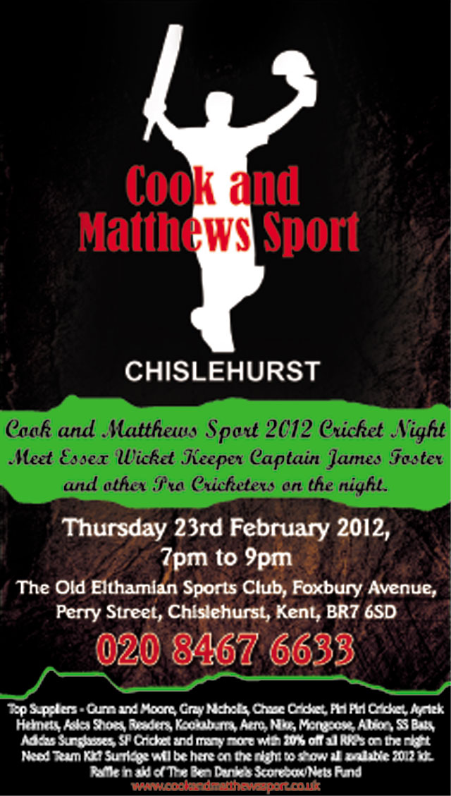 Cricket Show - meet James Foster and more...