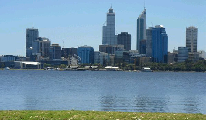 The view in Perth