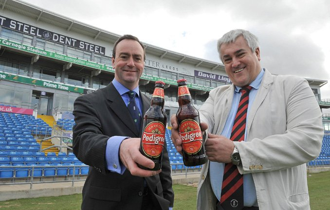 Richard Kaye, Sales Director at Yorkshire County Cricket Club and Peter Jackson, Marketing Director of Marston's Beer Company