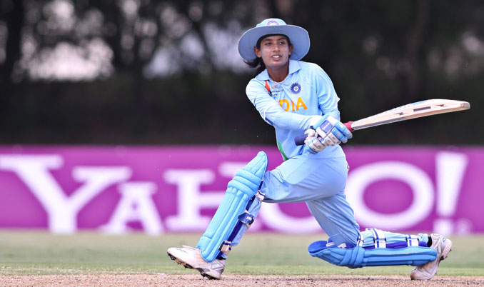 Cricket - Mithali Raj sweeps for India