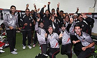 United Arab Emirates celebrate their qualification for the 2015 World Cup