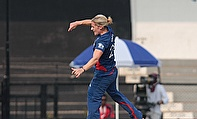 Katherine Brunt celebrates a wicket