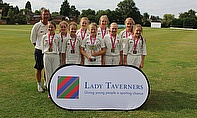 Newport Under 13s celebrate after beating Ealing in the final