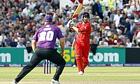 Action from Lancashire v Yorkshire in the T20 Blast