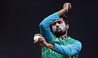 Mohammad Amir in a practice session ahead of the final against India