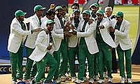 Pakistan celebrating the Champions Trophy victory