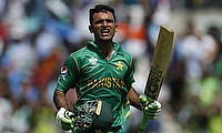 Fakhar Zaman celebrating his century in the final of Champions Trophy against India