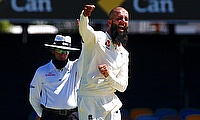 Moeen Ali managed to bowl just four overs in the second innings in Brisbane