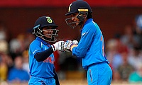 Smriti Mandhana (right) played an outstanding innings