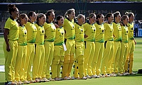 Australian Anthem Sang by the Australia Women Before Facing India
