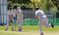 Gareth Watterson dismissing Rhys Kibble of Stockport Georgians 2nd XI