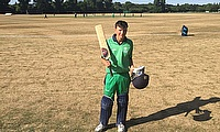 Tim Tector after scoring a century against Middlesex