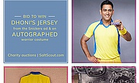 SaltScout seeks to raise funds from MS Dhoni memorabilia for Leukemia Lymphoma Foundation