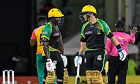 Rovman Powell and Ross Taylor of Jamaica Tallawah
