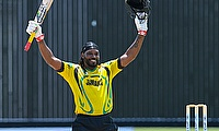 Chris Gayle #UniverseBoss hits century in final game for Jamaica Scorpions