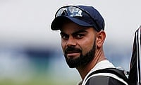 Virat Kohli during nets