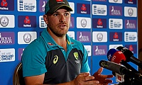 Aaron Finch Spoke to Media at Allan Border Field