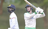 Neil Rock top scored for Ireland in the first innings . Making 85 off 198 balls..Consisting of 8 4_s