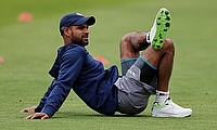 Shikhar Dhawan during training
