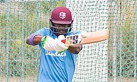 Darren Bravo plays a powerful pull shot