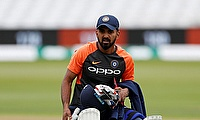 KL Rahul during nets