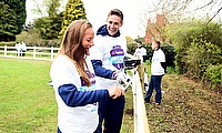 England cricketers Danni Wyatt & Chris Woakes take part in NatWest CricketForce