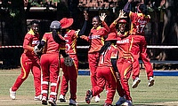 Zimbabwe Women celebrate