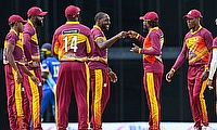 Chris Gayle  and the team celebrate