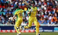 Steve Smith and David Warner in action