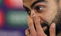 Virat Kohli during a press conference