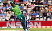 Faf du Plessis in action