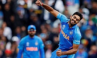 India's Vijay Shankar celebrates the wicket of Pakistan's Imam-ul-Haq