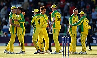 Australia players celebrate after the match