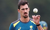 Australia's Mitchell Starc during nets