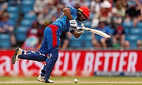 Afghanistan's Ikram Alikhil in action