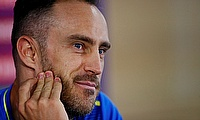 South Africa's Faf du Plessis during the press conference