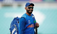 India's Dinesh Karthik during nets