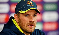 Aaron Finch during the press conference