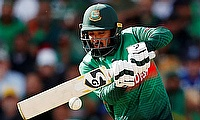 Bangladesh's Liton Das in action Action