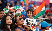 India fans during the match