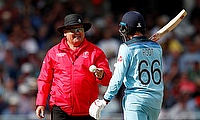 Umpire Marais Erasmus and England's Joe Root