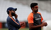 Ravichandran Ashwin and Ravindra Jadeja during nets